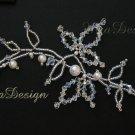 Swarovski Crystal & Pearl Bridal Hair Vine Tiara for Wedding Bride or Bridesmaids