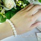 Swarovski Crystal Pearl Sterling Silver Bridal Bracelet for Wedding Bride or Gift to Bridesmaid