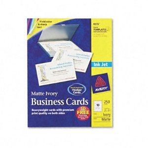 Avery 8376 Ivory Business Cards