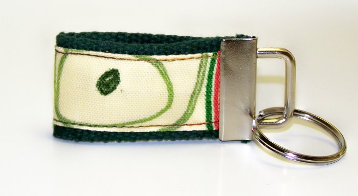 Hunter Green with Design~Mini Finger Key FOB