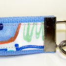 Light Blue with Rainbow Colors~Mini Finger Key FOB