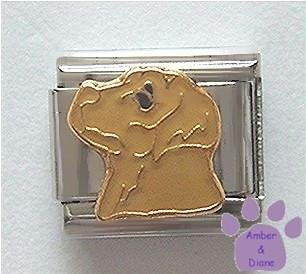Beautiful Yellow Lab Dog Italian Charm - Sandy colour