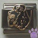 Gorgeous Black Poodle Dog Italian Charm