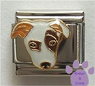 Jack Russell Terrier Italian Charm with Large Eye Patch
