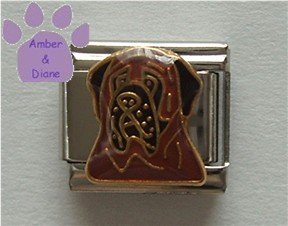 Mastiff Dog Italian Charm