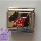 Scottish Terrier Italian Charm Scottie Dog in Red Coat