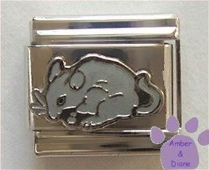 Adorable Gray Mouse Italian Charm