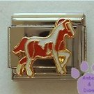 Pinto Pony Italian Charm, Brown and White Horse