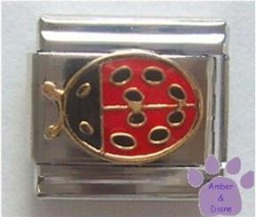 Ladybug Italian Charm ** very detailed ** Lady Bug