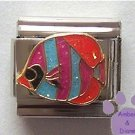 Colorful Tropical Glitter Fish Italian Charm