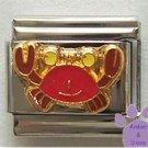Cute Red Crab Enamel Italian Charm * Cancer Zodiac Sign *