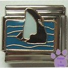 Killer Whale Italian Charm *breaking the ocean's surface*