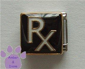 RX Prescription Symbol Italian Charm for Pharmacist Druggist