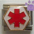 Star of Life Medical Symbol Italian Charm - Hospital Sign