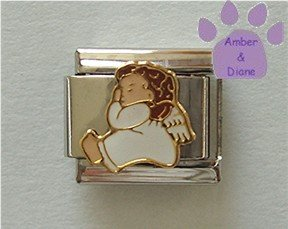Angel Baby Sleeping Italian Charm - Starlet by Charlot Byi