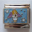 Blonde Angel Girl Italian Charm Flying Among the Stars