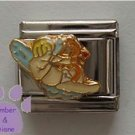 Cherub Angel Italian Charm with Cupid Bow and Arrow Heart