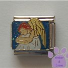 Daydreaming Angel Italian Charm on glitter sky