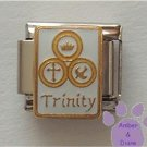 Holy Trinity Italian Charm *Crown, Cross, and Dove*