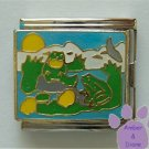 Frogs in a Pond Megalink Italian Charm