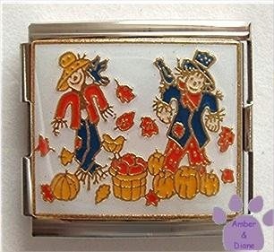 Scarecrows in a Field Italian Charm Megalink