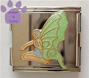Lovely Green Fairy Italian Charm Megalink