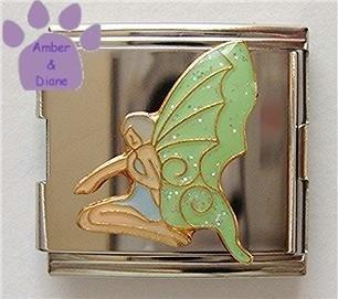 Lovely Green Fairy Italian Charm Megalink