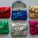 "Metallic Silk Gift Pouch variety of colors 2.5"" X 2"" Dome & Zip"