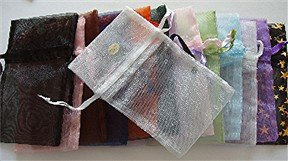 Organza Gift Bag variety of colors 4.75 X 2.75 inches Drawstring