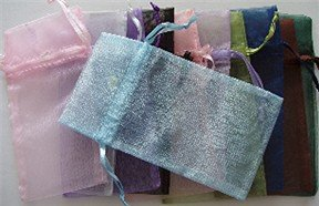 Organza Gift Bag variety of colors 6 X 3 inches Drawstring