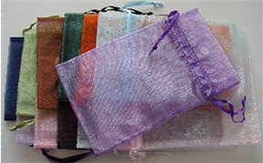 Organza Gift Bag variety of colors 6.75 X 4 inches Drawstring