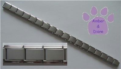 Silvertone Matte Italian Charm Starter Bracelet, 18 Link