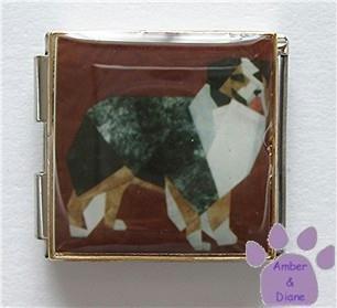 Australian Shepherd Dog Custom Photo Italian Charm Megalink