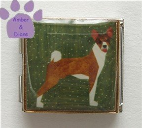 Basenji Dog Custom Photo Italian Charm Megalink