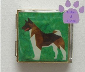 Akita Dog Custom Photo Italian Charm Megalink