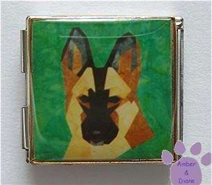 Belgian Malinois or Shepherd Megalink Custom Photo Italian Charm