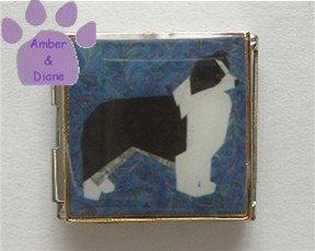 Border Collie Dog Custom Photo Italian Charm Megalink