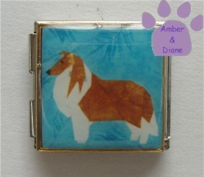 Collie or Sheltie Dog Photo Italian Charm Megalink full body