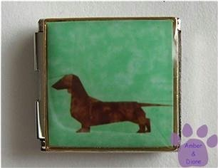 Dachshund Dog Megalink Custom Photo Italian Charm