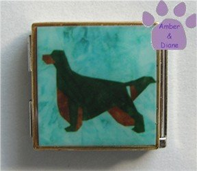 Gordon Setter Dog Custom Photo Italian Charm Megalink