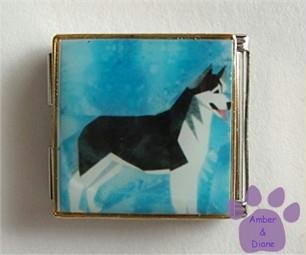 Husky Dog Custom Photo Italian Charm Megalink
