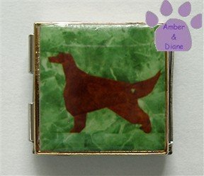 Irish Setter Dog Custom Photo Italian Charm Megalink
