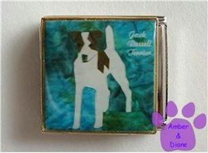 Jack Russell Terrier Dog Custom Photo Italian Charm Megalink