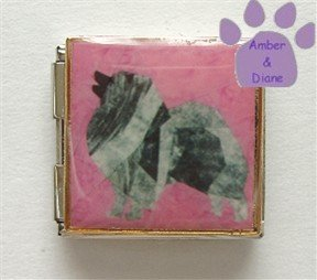 Keeshond Custom Photo Italian Charm Megalink
