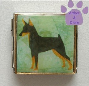 Mini Pinscher or Doberman Puppy Custom Photo Italian Charm Mega