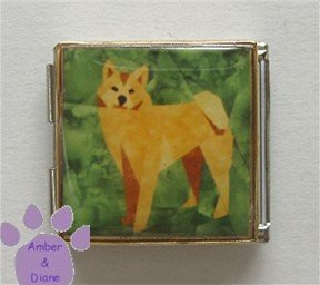 Shiba Inu Dog Custom Photo Italian Charm Megalink full body pose