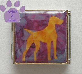 Vizsla or Pointer Dog Custom Photo Italian Charm Megalink