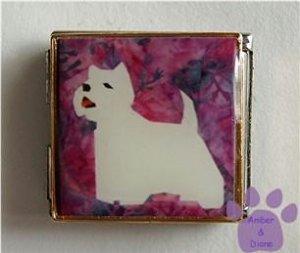 West Highland White Terrier Custom Photo Italian Charm Megalink
