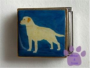 Yellow Lab Dog Custom Photo Italian Charm Megalink