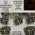 Butterfly Dangle Mood & Glow Slider 5mm Italian Charm Color Change